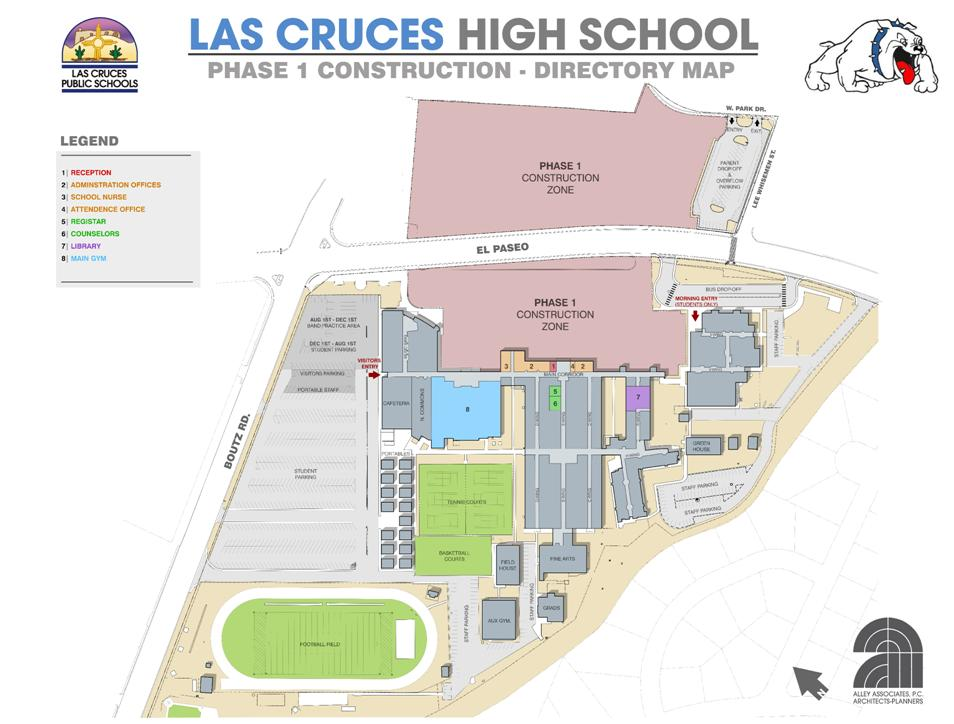 LCHS Construction Phase I, Parking and Directory Map, 07.16.13